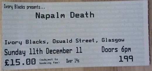 Napalm Death Ticket